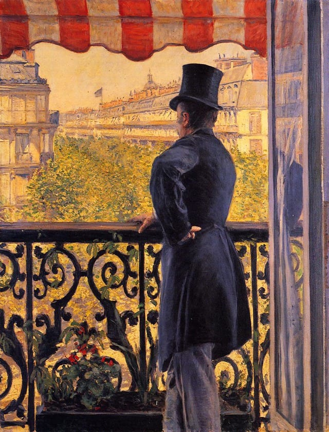 Gustave-Caillebotte-Paintings-The-Man-on-the-Balcony
