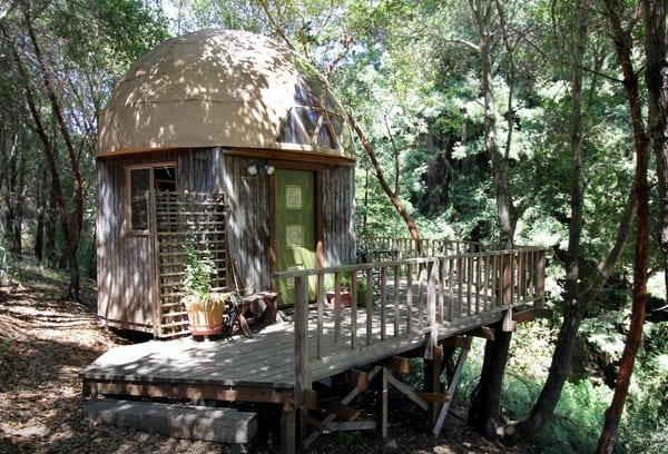 Mushroom Dome Cabin_ #1 on airbnb - Cabins for Rent in Aptos