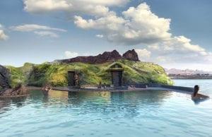 """【2021年の胃袋に超刺激】""""バーで泳げる""""絶景リゾート「Sky Lagoon」がアイスランドに登場"""